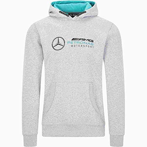 Fuel For Fans Sudadera con Capucha para Hombre, Hombre, Mercedes-AMG Petronas F1 - Sudadera con Logotipo, 141101007, Gris, XXL