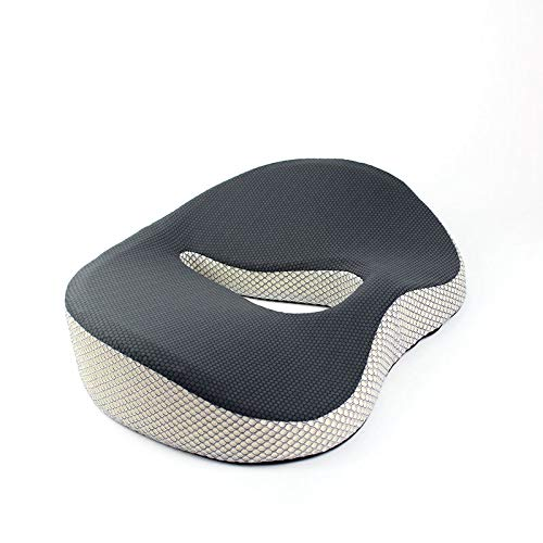 Memory Foam Cushion for Tailbone Pain Relief - Truck and Car Seat Cushion for Lumbar Support Back Pain Sciatica, Orthopedic Coccyx Cushion to Provide Comfort and Support On Any Surface