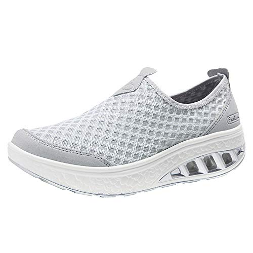 manadlian Chaussures de Course Running Femme Chaussure Sport Fitness Légère Sport Basket Homme Basket Pas Cher Sneakers Mode Air Running Course Outdoor Casual Travail Loafers Plateforme