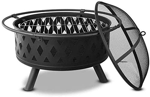 XYSQWZ Outside Heating Brazier Wood Stove Fireplace Grill Terrace Kettle Wood Kettle Campfire Barbecue Multifunction (size: A)