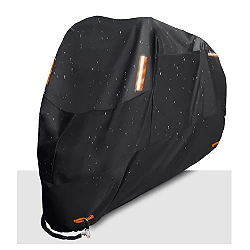 Cubierta De Motocicleta,Protector De Rayos Ultravioleta,Impermeable,Impermeable,para Bicicleta,Cubierta para Scooter De Motor A Prueba De Polvo,300D,L,181-200Cm,Negro