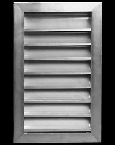 Wetterfeste Lamellen aus Aluminium – wasserdicht & Regenschutz – mit Netzgewebe – HVAC Wetter-Lüftungsgitter 12 x 18 Anodized Aluminum