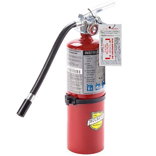 Buckeye Fire Extinguisher, 3A:40B:C, 5lb, Dry Chemical, Red