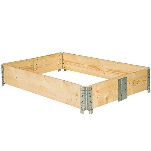 TecTake Hochbeet Rahmen faltbar 120 x 80 x 19 cm - Diverse Mengen - (1x Hochbeet | Nr. 402270)