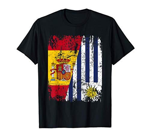 URUGUAY Camiseta ESPAÑA BANDERA de la AMISTAD URUGUAY Camiseta