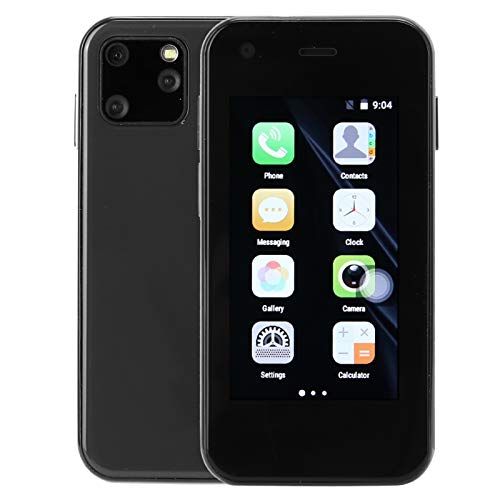 Vbestlife Mini Smartphone, 2,5 Pulgadas, 1 + 8G, XS11 Quad Core Dual Card, Pequeño teléfono móvil, Alta definición, WiFi, Smartphone Simple, Smartphone 3G Min(Negro)