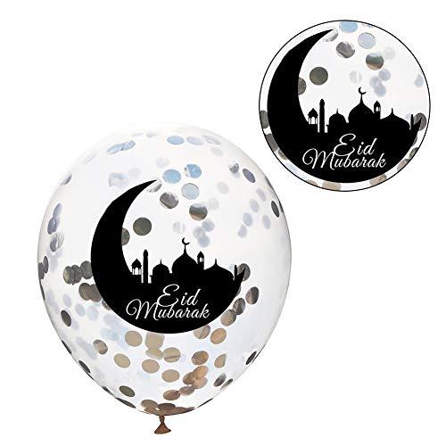 sinceY 10 stuks/Charge Eid Mubarak latexballon Ramadan moslim festival decoratie islamitisch Nieuwjaar helder confetti ballonnen