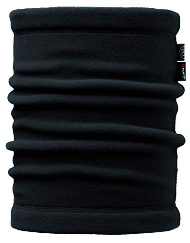 Buff Erwachsene Multifunktionstuch Polar Neckwarmer, Solid Black, One Size