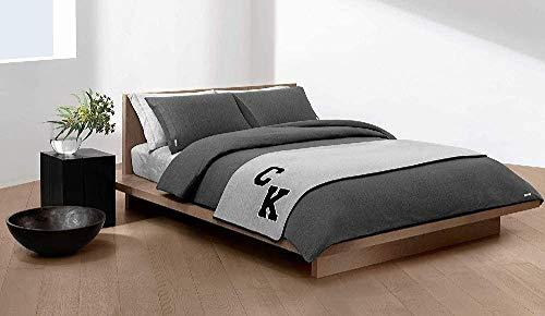 Calvin Klein Body ID Funda de edredón, Algodón, Carbón, 155x220 cm