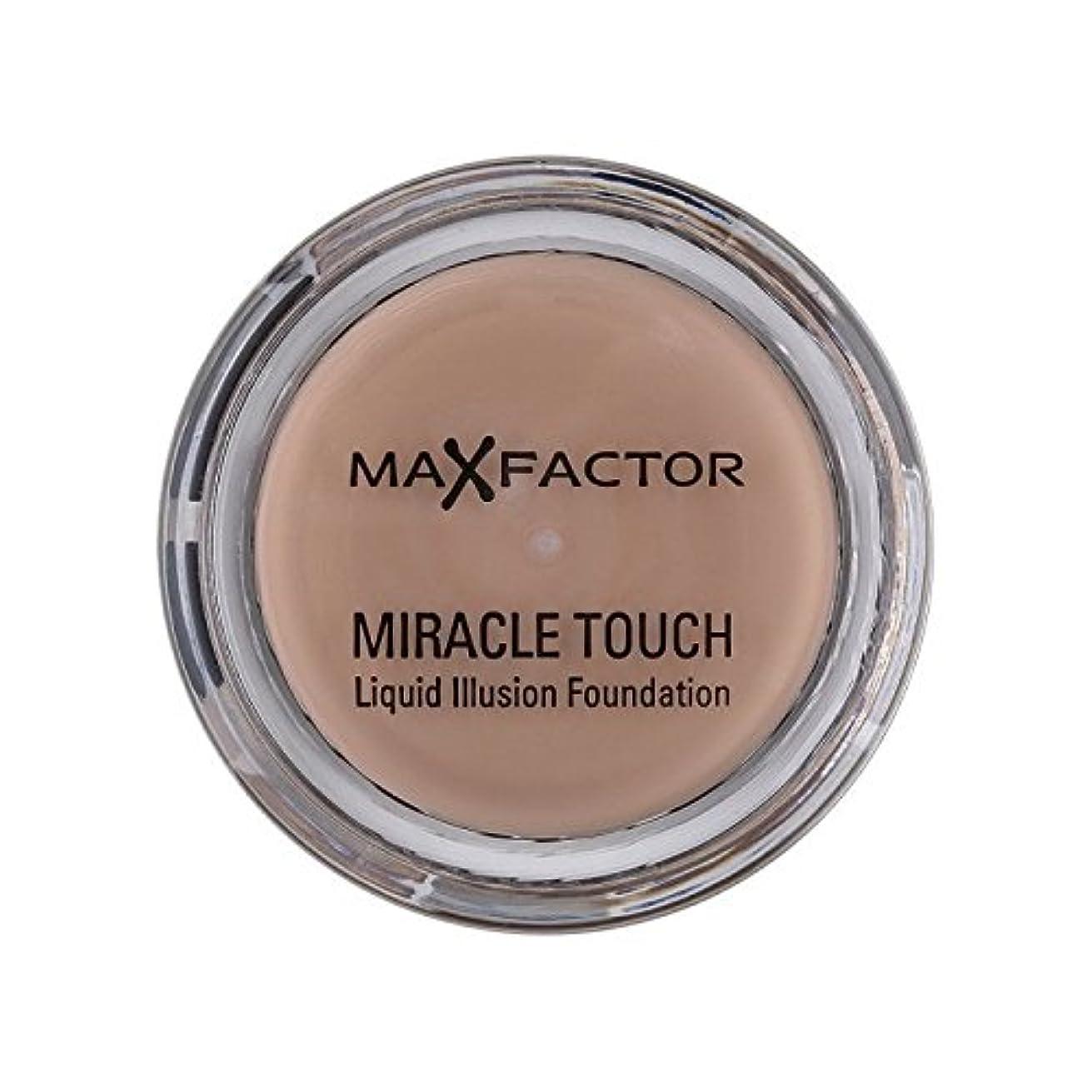 口電話に出る仲介者マックスファクター奇跡のタッチ基盤暖かいアーモンド45 x2 - Max Factor Miracle Touch Foundation Warm Almond 45 (Pack of 2) [並行輸入品]