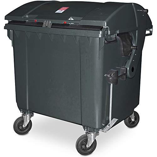 1100 Liter Großmüllbehälter/Müllcontainer nach EN 840, MGB anthrazitgrau