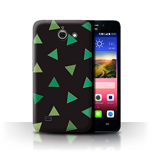 Stuff4® Hülle/Hülle für Huawei Ascend Y550 LTE/Abstrakte Dreiecke Muster/Grün Mode Kollektion