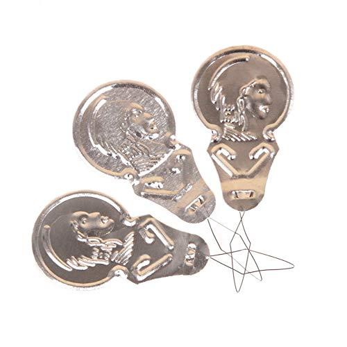 Nigoz - 50 enhebradores de agujas de aluminio para coser a mano o a máquina