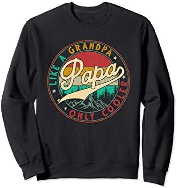 Vintage Retro Funny Gifts for Dad Papa Papa like a Grandpa Sweatshirt product image