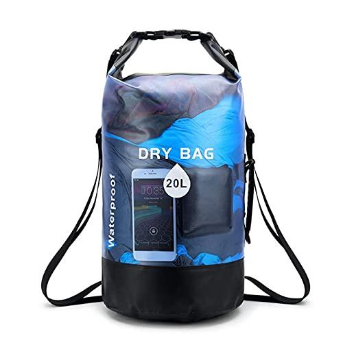 heresell Dry Bag - Zaino impermeabile da 20 l, in PVC, con tracolla regolabile e manico per sport acquatici, kayak, canottaggio e nuoto
