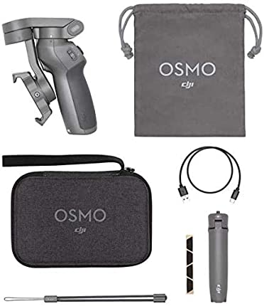 DJI OM3 Combo, Estabilizador de 3 Ejes para Smartphone Compatible con iPhone y Smartphone, Android, diseño Ligero y Portátil, grabación Estable, Control Inteligente + Trípode, Gris
