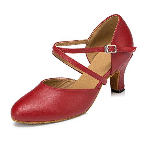 Minitoo , Damen Tanzschuhe , Rot - rot - Größe: 39