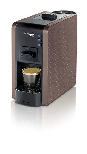 German Pool CMC-111BN Fácil limpieza con gran variedad de bebidas Espresso / Cappuccino Cafetera de varias cápsulas Marrón