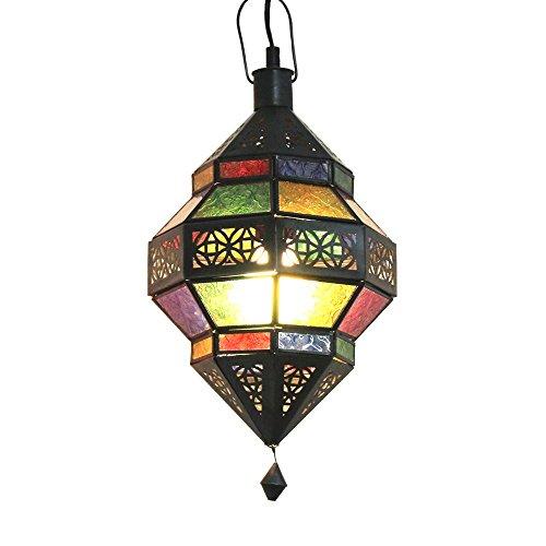 albena Marokko Galerie 13-131 Trob orientalische Lampe Glas/Metall (bunt)