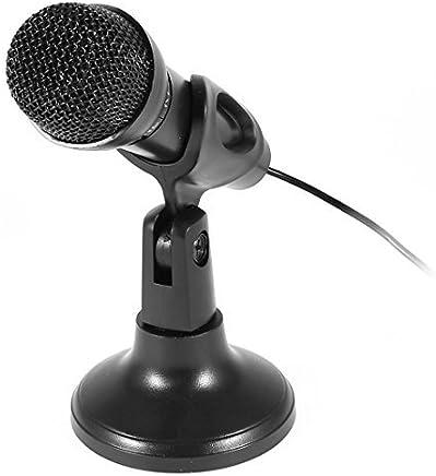 Conférence eDealMax noire de 3,5 mm Connecteur studio parole réseau KTV Microphone w Titulaire
