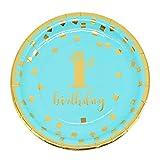 Stoviglie usa e getta Tovagliolo tazza rosa blu Piatto Primo anno Festa di compleanno Decorazioni da tavola Baby Shower Forniture