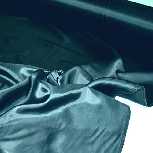 TOLKO 1m Futterstoff   Futter-TAFT als Dekostoff universal Stoff zum Nähen Dekorieren   Blickdicht knitterarm   150cm breit Modestoff Hochzeitsstoff Kleiderstoff Kostümstoff Meterware (Petrol Blau)