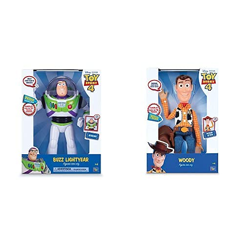 Bizak Buzz Lightyear con Voz (61234070 1) + Woody con Voz, Multicolor, Única...