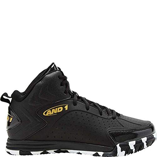 AND1 Men's TipOff Basketball Black/Gold/Marble 10.5