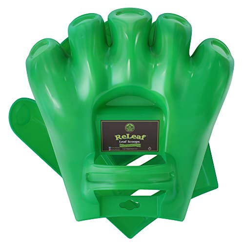 GARDEASE Leaf Scoops | Hand Rake Grabber Tool | Scoop Leaves Easily | Garden & Yard Pickup | Gorilla Leaf Claws | XLarge Ergonomic Hands Design | 1 Pair