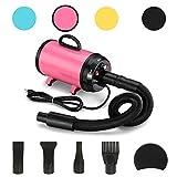 JY QAQA PET 3.2 Hp Pet Grooming Hair Dryer/Heater/2400w High-Power Stepless Adjustable...
