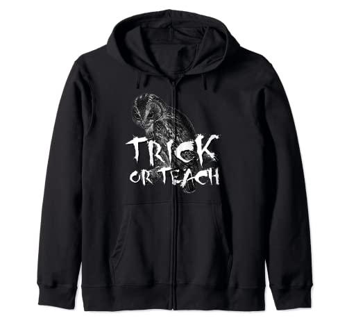 Camiseta de Trick or Teach, disfraz de profesor de miedo para Halloween Sudadera con Capucha