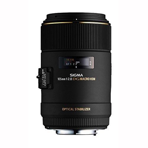 Sigma 105mm F2.8 EX DG OS HSM Macro Lens for Canon SLR Camera - International Version (No Warranty)