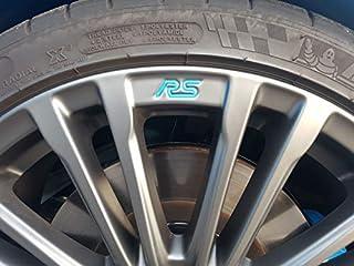 Jackplott Focus RS MK3 Gel Embleme Inlays Felgen Logos (Blau)