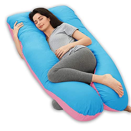 Wndy's Dream Almohada para el Embarazo en Forma de U Almohada para Dormir Bodypillow Almohada para el Embarazo Almohada para Dormir Lateral (140x80cm, 3kg)