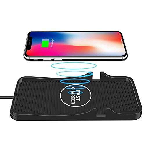 Wireless Car Charger Pad Qi Charging Mat Fast 15W 10W 7.5W Quick Charge Adapter Table Stand Holder for iPhone 12 Pro Max 11 8 Plus X XR Xs Compatible Samsung Galaxy S10 S9 Note 9 7 LG G8 Android Phone