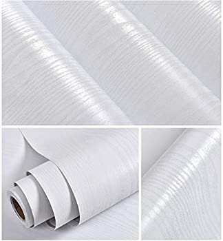 White Wood Paper 15.7  X 118  Decorative Shiplap Self-Adhesive Film for Furniture Real Wood Tactile Easy to Clean Perfectly Covers The Surface Without Passing Through The Primary Colors