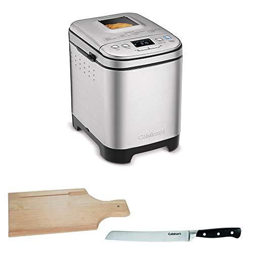Cuisinart CBK-110 Compact Automatic Bread Maker, Silver Includes 8-inch Bread Knife and Bread Board