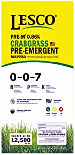 Lesco Professional, 50 LB, 12,500 SQFT Coverage, 0-0-7, Crab Grass Preventer Turf Fertilizer