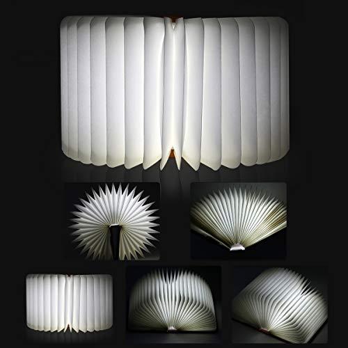 Aibesser Faltbare Buch Lampe LED Buchlampe PU-Leder - 5