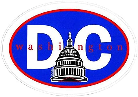 Washington DC Capitol Building Souvenir Adhesive Bumper Sticker product image
