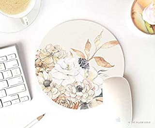 farmhouse rustic floral mouse pad