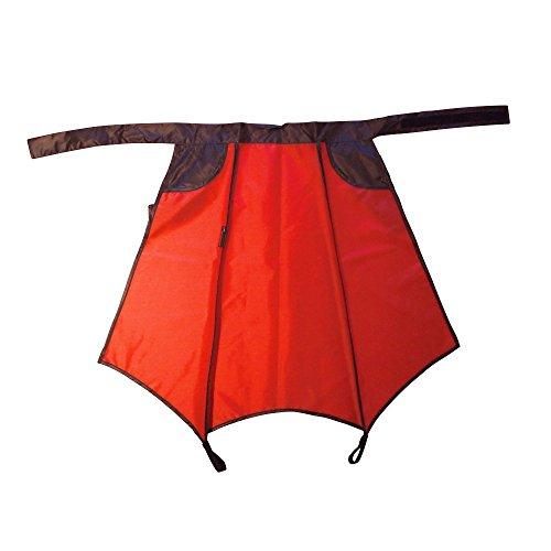 Drachenhaut Fahrrad Regenschutz in rot - die schnelle Alternative zur Radl Regenhose und Poncho (rot mit schwarzen Details)