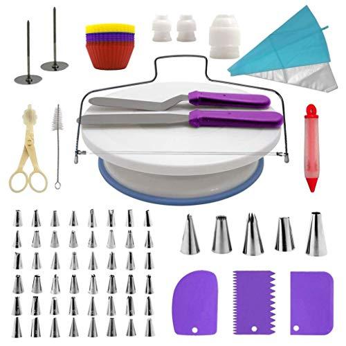 106 piezas de suministros de decoración de pasteles, kit profesional de decoración...
