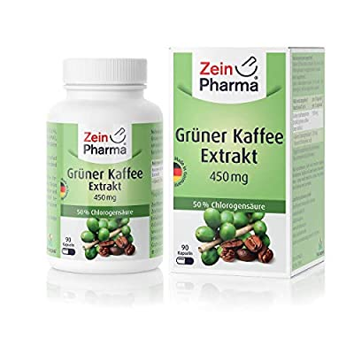ZeinPharma Green Coffee Extract Capsules 450 mg 90 Capsules 1 Pack (1 x 50 g)