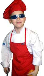 Chefskin Kids Red Mushroom Puffy Chef Hat Adjustable