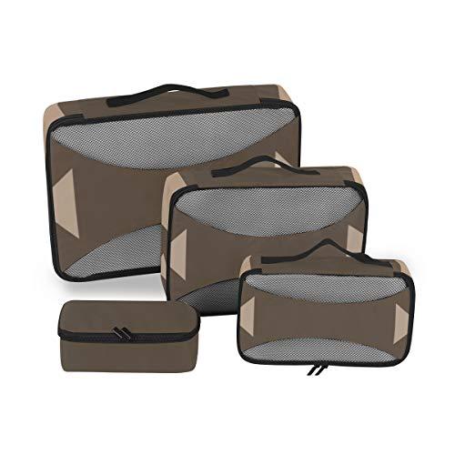 Organizador de Cubos de Almacenamiento de Viaje Un Conjunto de manijas de Juego Retro Organizador de Cubos Organizador de Viaje de Viaje para Hombres Organizador de Maleta de 4 Piezas Bolsa de almace