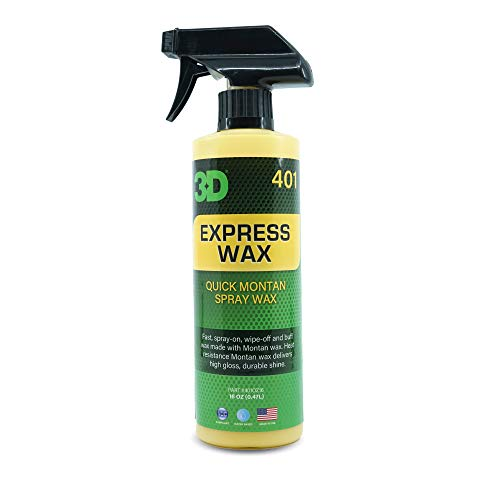 3D Express Wax One Step Liquid Wax | No Powder Residue or Streaking | Use as Dry Wash or Liquid Detailer | Made in USA | All Natural | No Harmful Chemicals (16oz.)