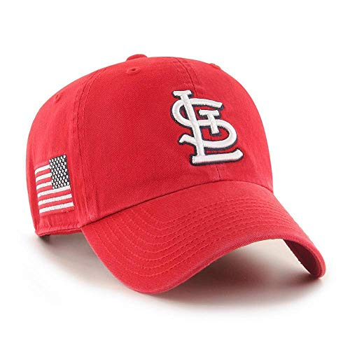 '47 MLB Heritage Clean Up Adjustable Hat, Adult One Size Fits All (St Louis Cardinals Red)