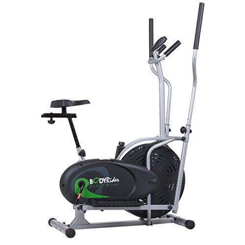 Body Rider Elliptical Trainer and Exercise Bike with Seat and Easy Computer / Dual Trainer 2 in 1 Cardio Home Office Fitness Workout Machine BRD2000 by Body Rider