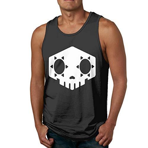 Abigails Home Sombra Skull Hommes Débardeurs Débardeurs Tee Tee Sports Basketball T-Shirt Fitness en Plein Air(XXL,Noir)